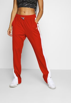 TOKYO WARM UP  - Tracksuit bottoms - classic red/brilliant white