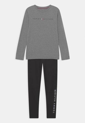 BASIC PANT - Pyjama set - medium grey heather/black