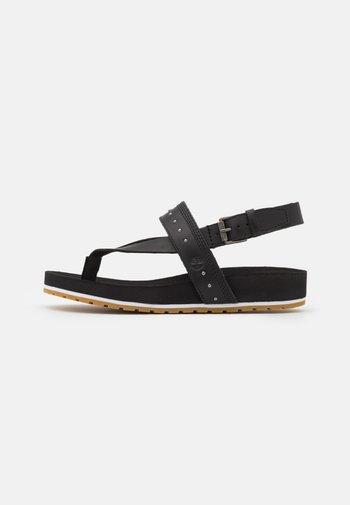 MALIBUWAVES  - T-bar sandals - black