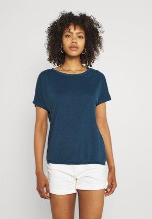 PECORI - Print T-shirt - navy