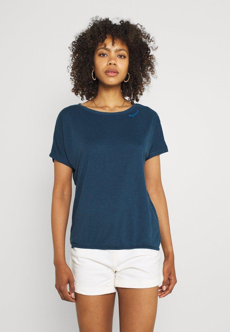 Ragwear - PECORI - Print T-shirt - navy