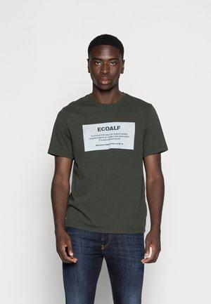 NEW NATALF LABEL PATCH - T-shirt print - dark khaki