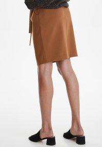 ICHI - IHUDELE - Pencil skirt - mocha bisque - 3