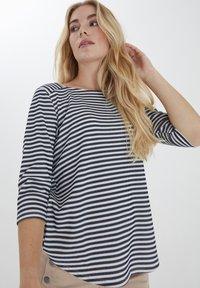 Fransa - FRPEJACQ 1 - Camiseta de manga larga - navy blazer mix - 0
