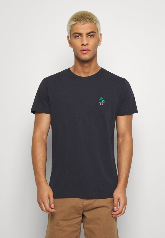 WITH EMBROIDERY - T-shirt basique - navy