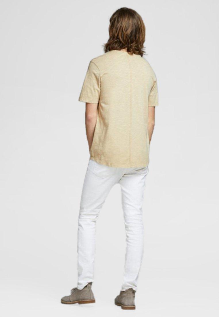 Jack & Jones PREMIUM JPRDREW BLA - Basic T-shirt - prairie sand C9FNE