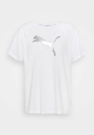 EVOSTRIPE TEE - Print T-shirt - white