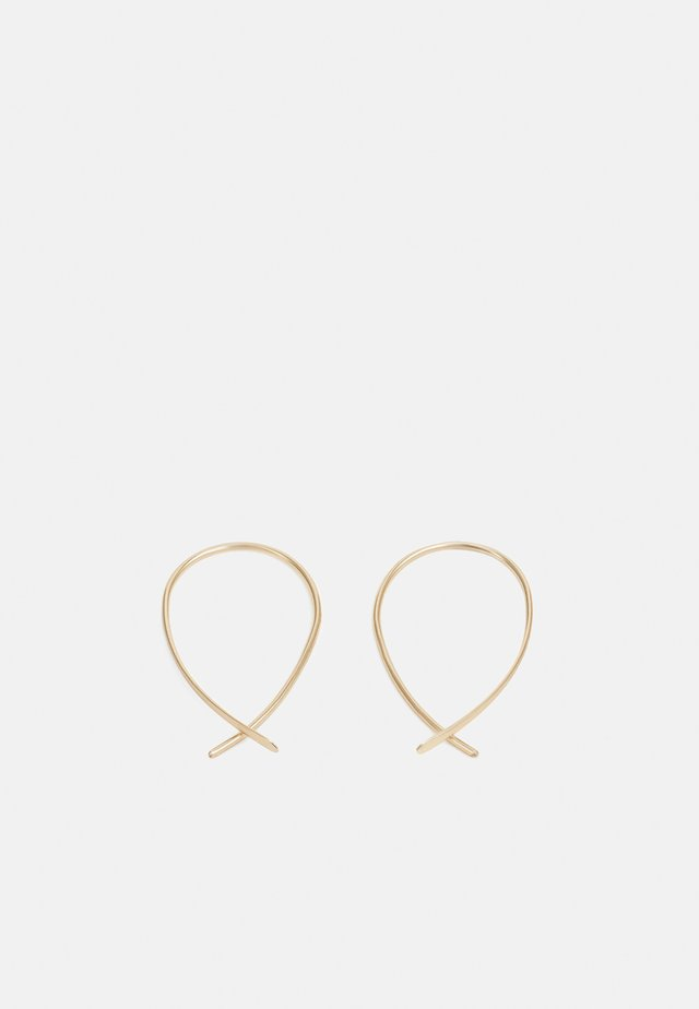 BASIC THREADER - Náušnice - gold-coloured