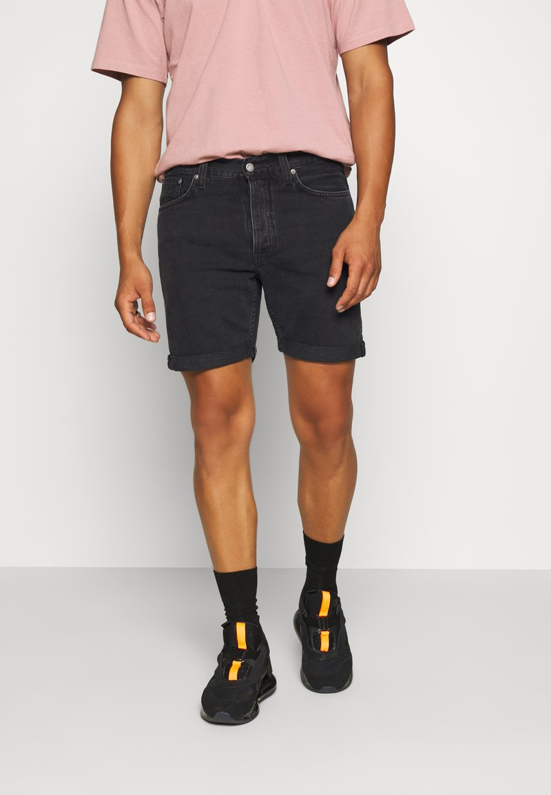 Nudie Jeans - JOSH - Denim shorts - black water