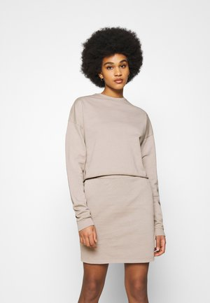 WATCH OUT SKIRT SET - Mikina - beige