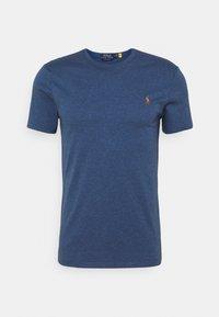 Polo Ralph Lauren - CUSTOM SLIM SOFT COTTON TEE - Basic T-shirt - derby blue heather - 4