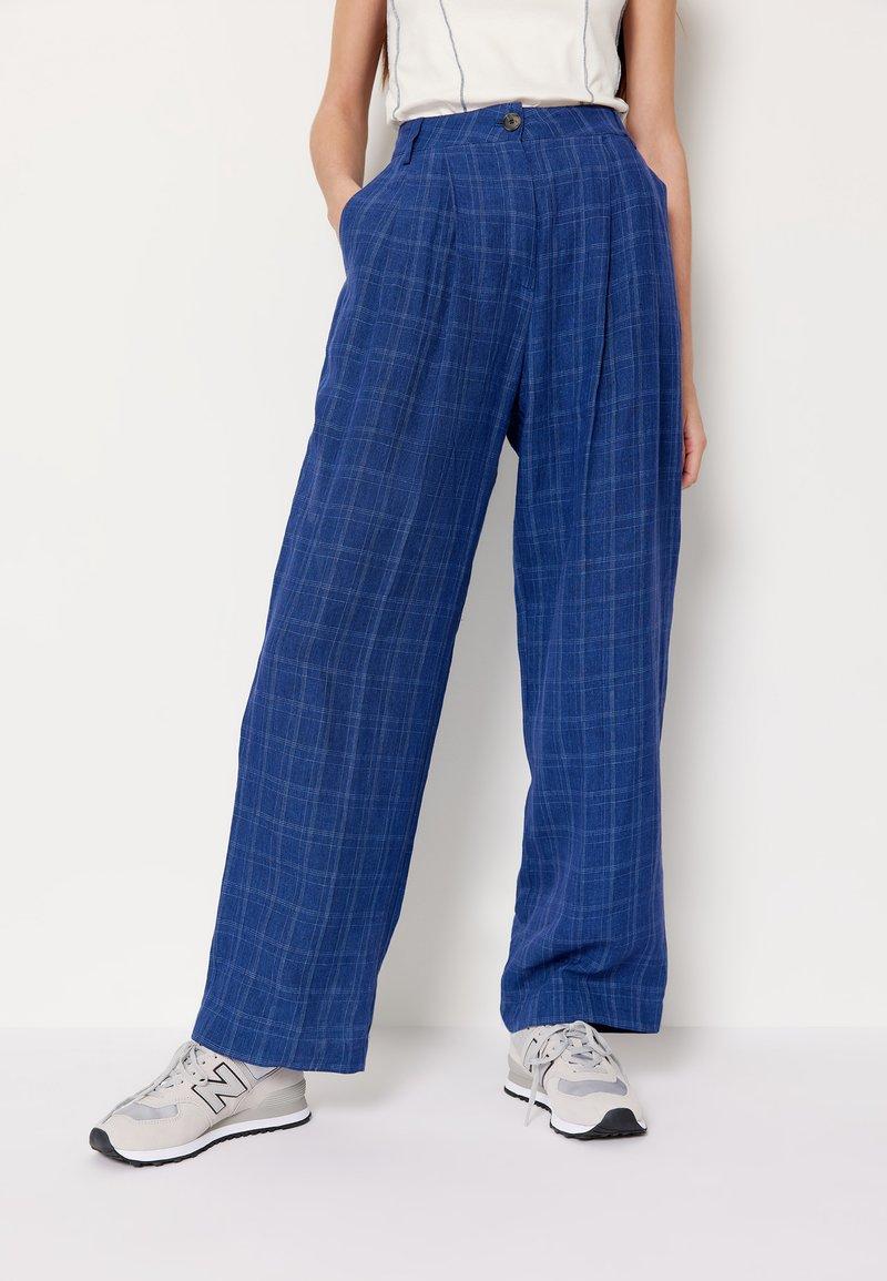 Wood Wood - SIRID TROUSERS - Trousers - blue