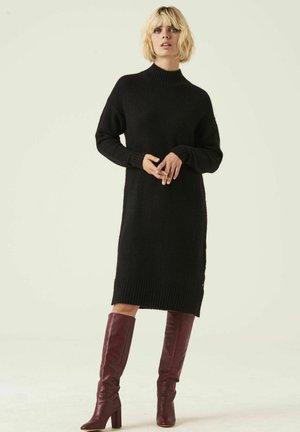 Gebreide jurk - black