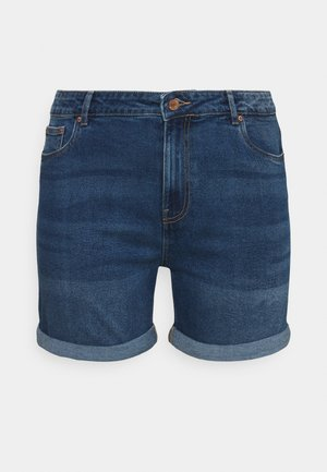 VMJOANA MOM - Džínové kraťasy - medium blue denim