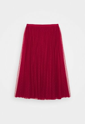 KISSES BALLERINA SKIRT - Áčková sukně - deep red