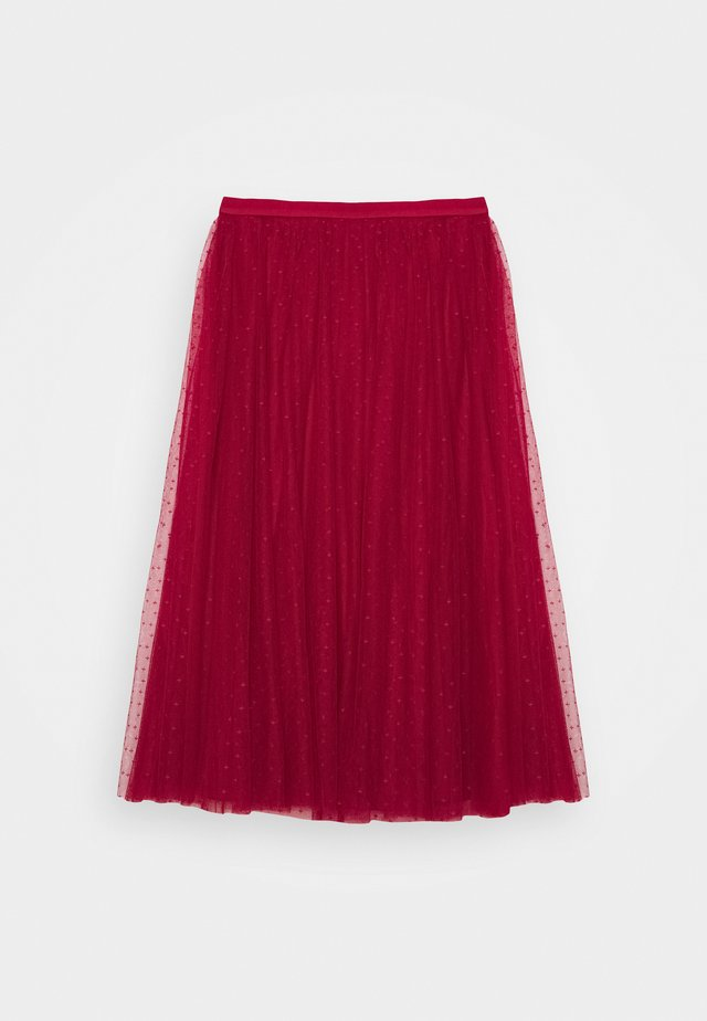 KISSES BALLERINA SKIRT - A-lijn rok - deep red