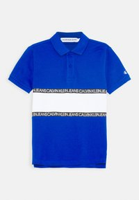 Calvin Klein Jeans - LOGO COLOUR BLOCK  - Poloshirts - blue - 0