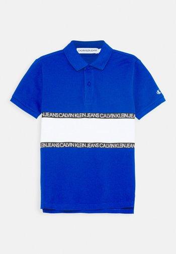 LOGO COLOUR BLOCK  - Poloshirts - blue