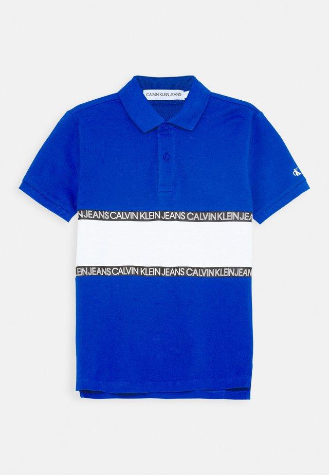 LOGO COLOUR BLOCK  - Polo - blue