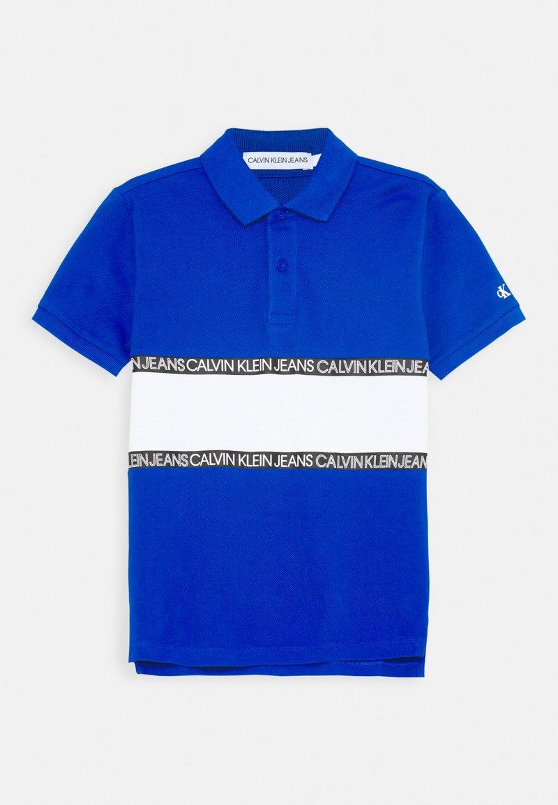 Calvin Klein Jeans - LOGO COLOUR BLOCK  - Poloshirts - blue