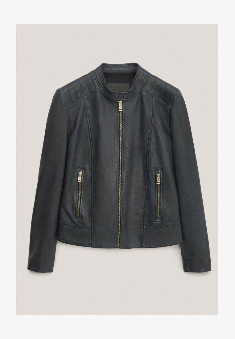 Massimo Dutti - Faux leather jacket - blue-black denim