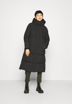 ECO LONG PUFFER - Down coat - black