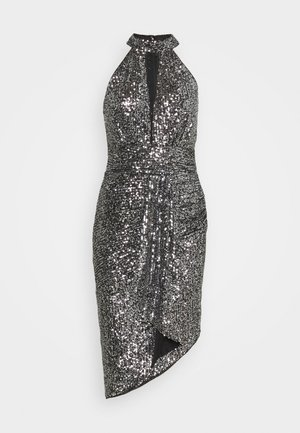 HALONA DRESS - Juhlamekko - black/silver