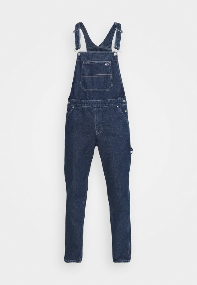 DUNGAREE - Straight leg jeans - save dark blue rigid