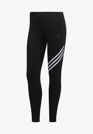 RUN IT 3-STRIPES 7/8 LEGGINGS - Legginsy - black