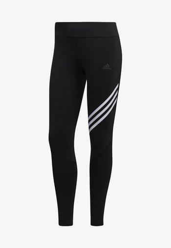 RUN IT 3-STRIPES 7/8 LEGGINGS - Leggings - black