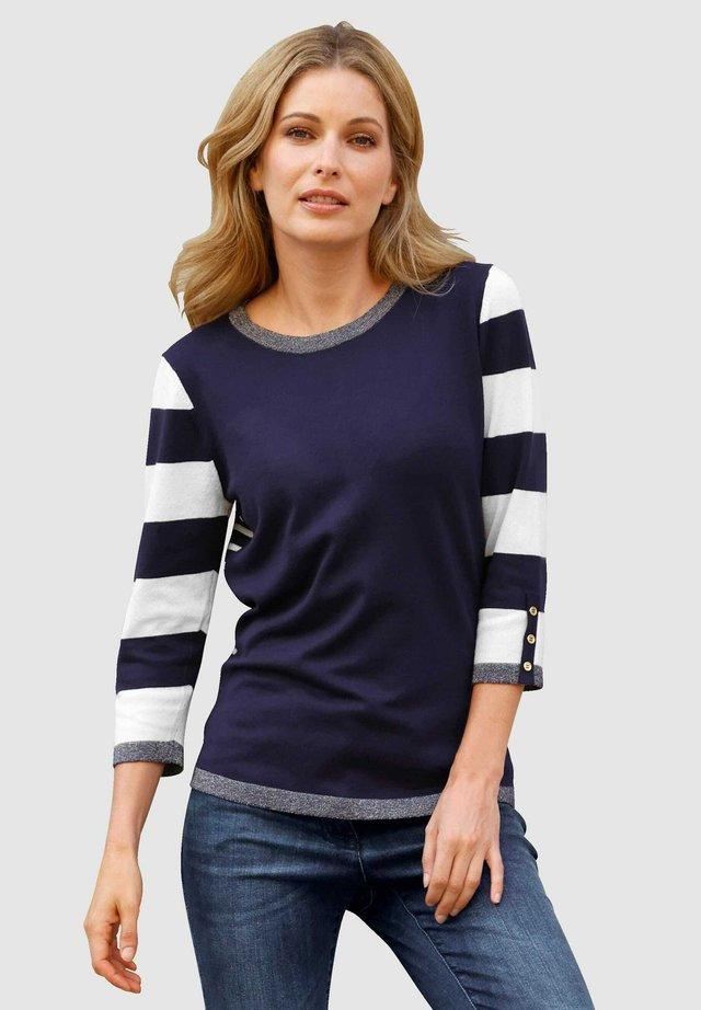 Sweatshirt - marineblau,weiß