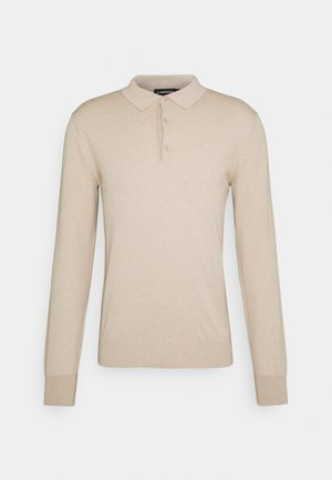 ROWAN - Stickad tröja - sand/grey