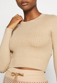 Even&Odd - 2 PACK- CROPPED JUMPER - Strikkegenser - black/sand - 6