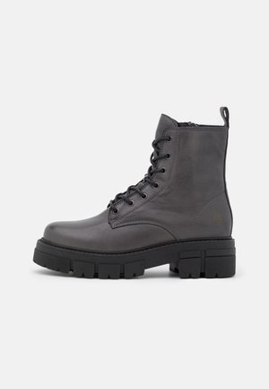 CASTLE - Lace-up ankle boots - dark grey