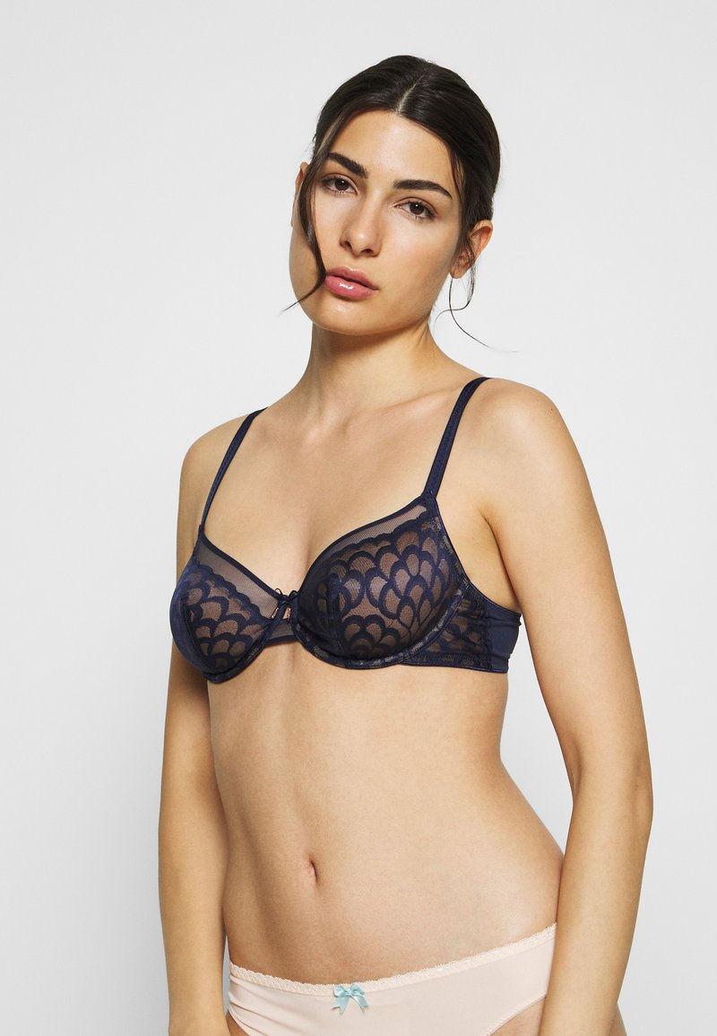 LASCANA - WIRE BRA - Underwired bra - midnightblue