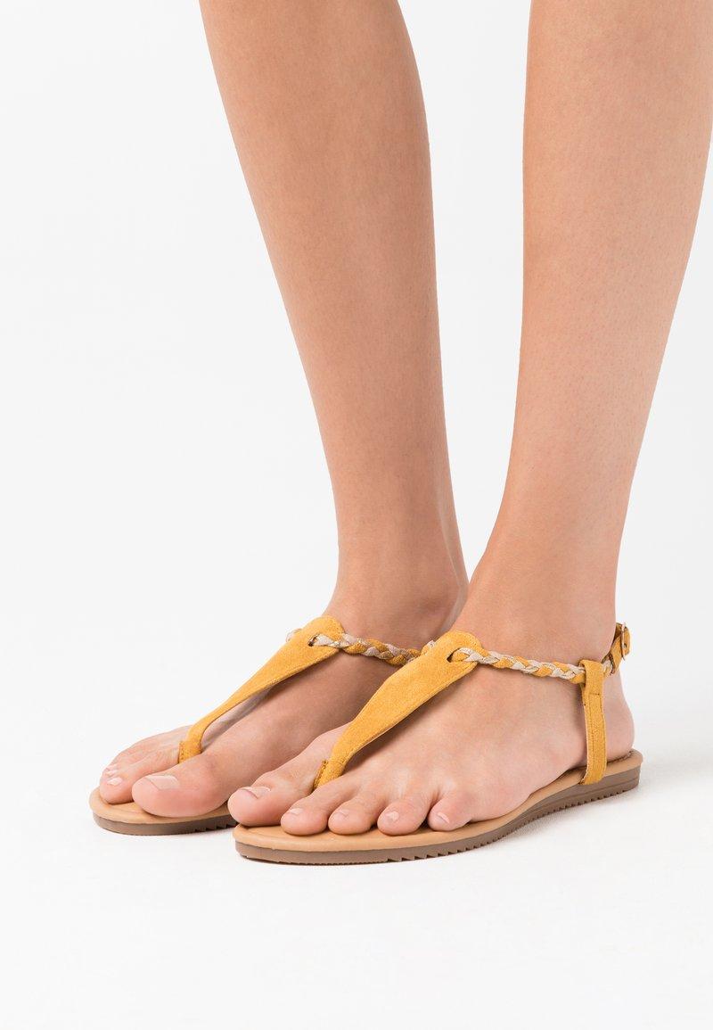Anna Field - T-bar sandals - yellow