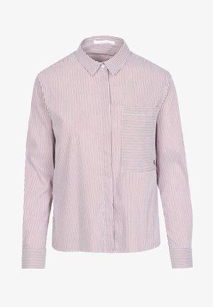 Overhemdblouse - burgundy stripes