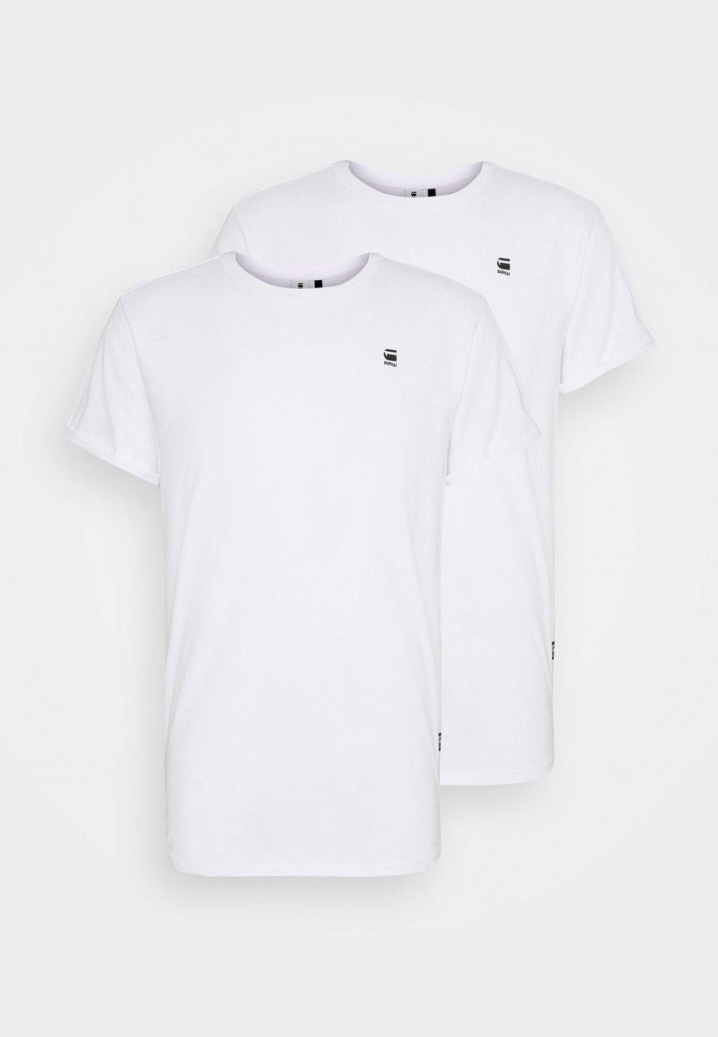 G-Star - LASH 2 PACK - Basic T-shirt - white