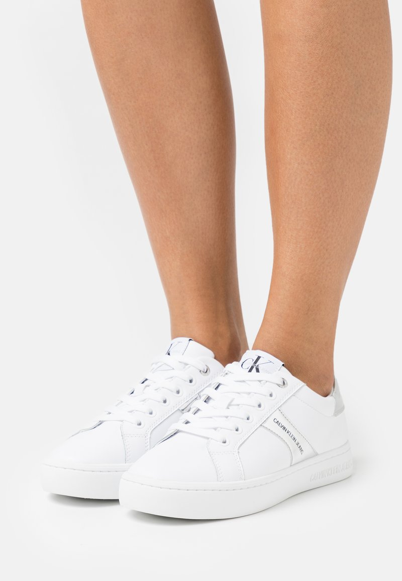 Calvin Klein Jeans - CUPSOLE LACEUP - Trainers - bright white/silver