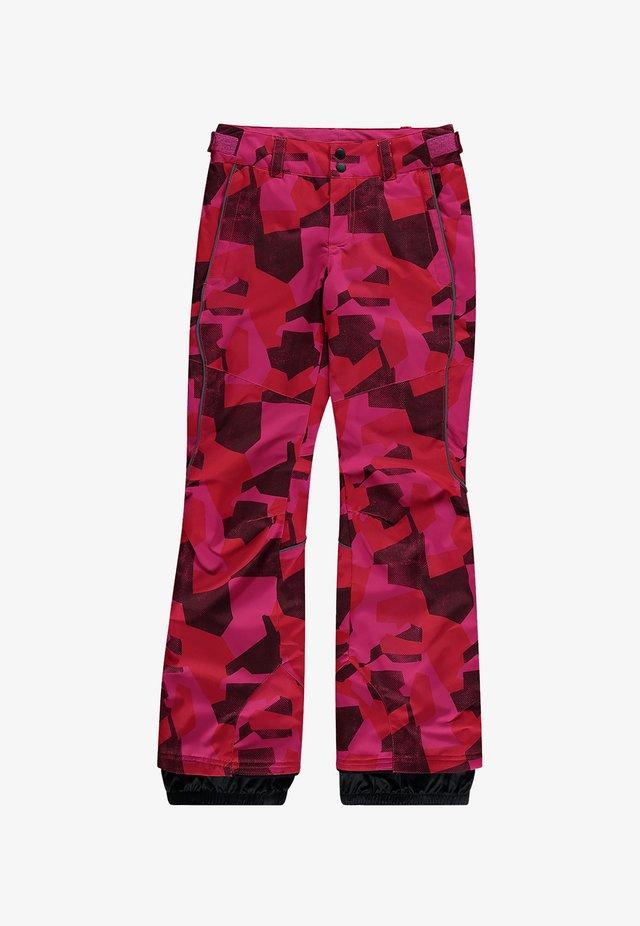 Pantalon de ski - red aop w/ blue