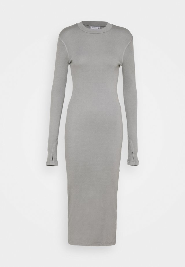 ELLA DRESS - Gebreide jurk - grey medium dusty