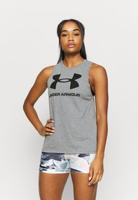 Under Armour - SPORTSTYLE GRAPHIC TANK - Camiseta de deporte - pitch gray light heather - 0