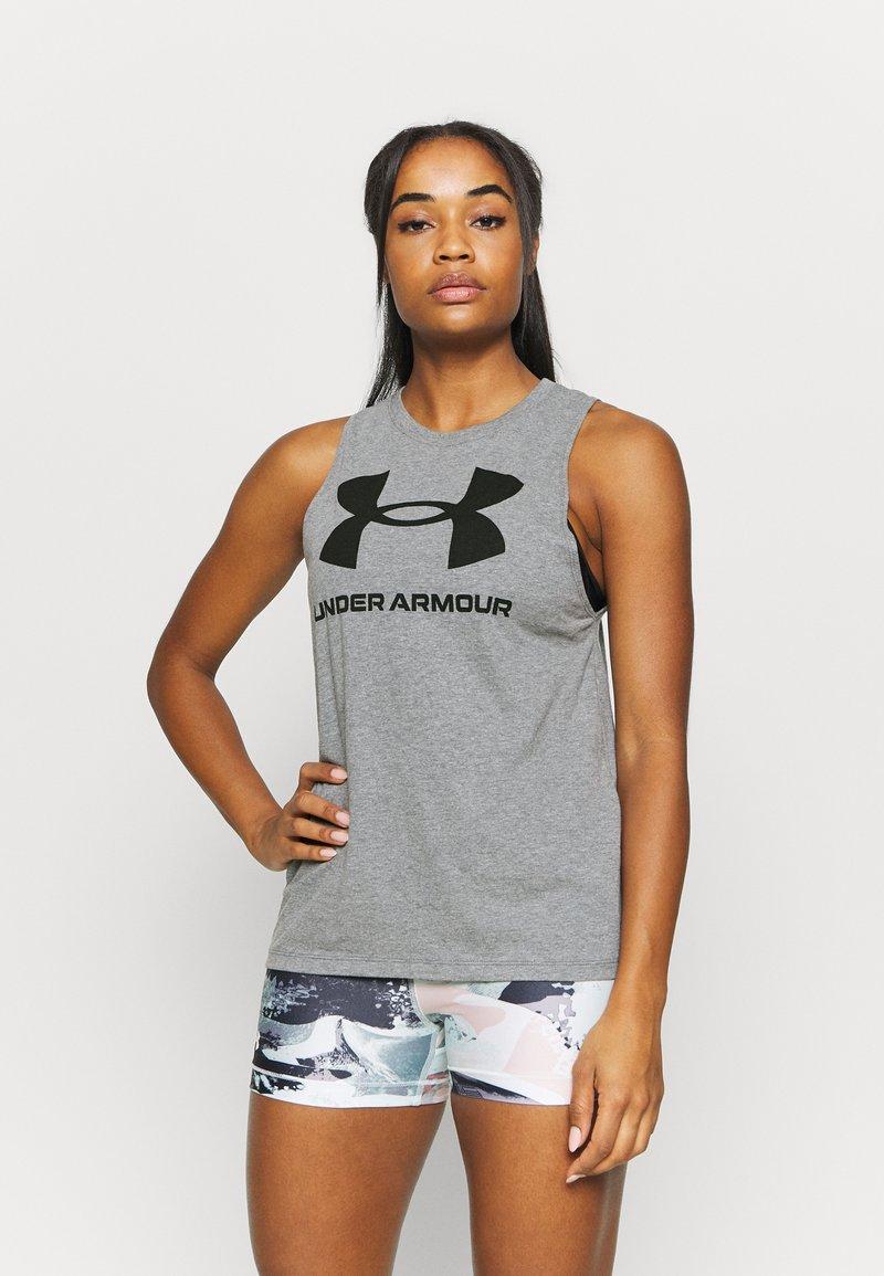 Under Armour - SPORTSTYLE GRAPHIC TANK - Camiseta de deporte - pitch gray light heather