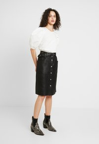 YAS - YASANDREA NAPPALON SKIRT - A-line skirt - black - 1