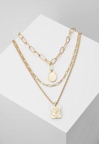 Pieces - PCNAMO COMBI NECKLACE - Necklace - gold-coloured - 0