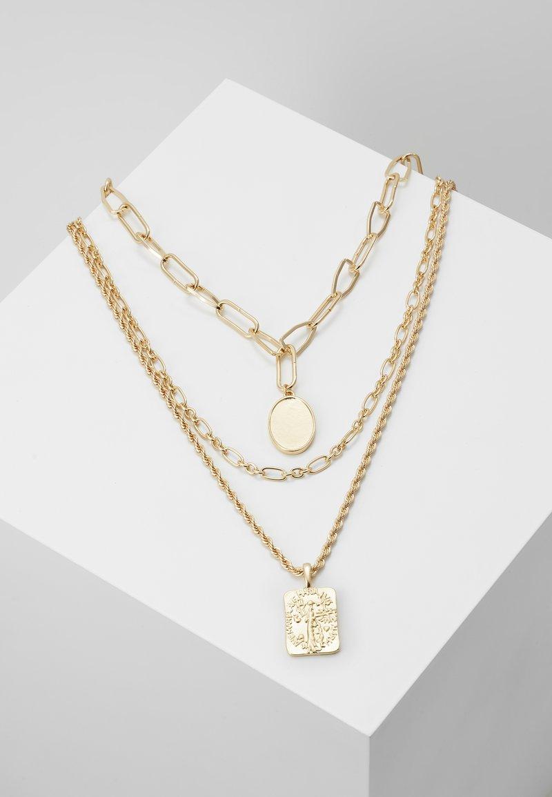 Pieces - PCNAMO COMBI NECKLACE - Necklace - gold-coloured
