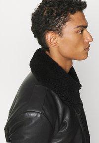 HUGO - LYAN - Leather jacket - black - 4