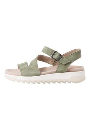 Sandály na platformě - pistachio
