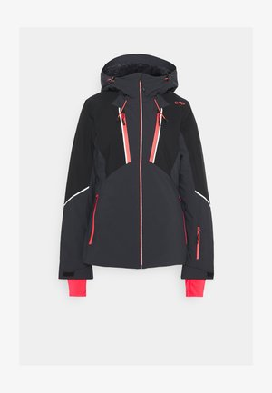 WOMAN JACKET FIX HOOD - Lyžařská bunda - antracite