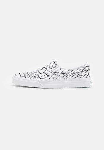 CLASSIC SLIP-ON UNISEX - Slip-ins - white/black